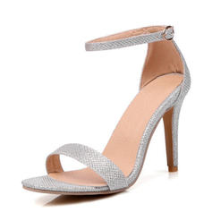 Lace Spool Heel Peep Toe Pumps