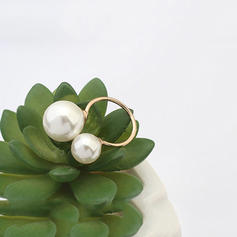 Beautiful Alloy With Imitation Pearl Girls' Fashion Rings