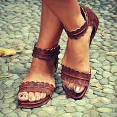 PU Flat Heel Sandals With Others shoes