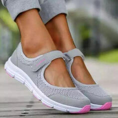 Women's Cloth Mesh Flat Heel Flats Round Toe Sneakers With Hollow-out shoes
