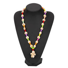 Lovely Shell With Shell Women's Necklaces