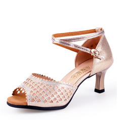 Women's Latin Heels Microfiber Leather Latin
