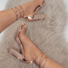 Women's PU Chunky Heel Sandals Pumps Peep Toe Heels With Others shoes