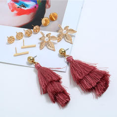 Stylish Leaves Shaped Alloy Women's Earrings (Set of 6 pairs)