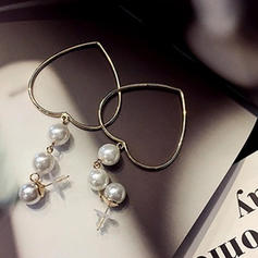 À la mode Alliage De faux pearl Dames Boucles d'oreille de mode