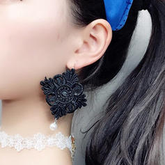 Shining Alloy Lace Ladies' Fashion Earrings