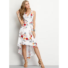 Print/Floral Sleeveless Shift Asymmetrical Casual/Vacation Dresses