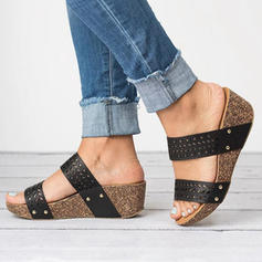 PU Wedge Heel Sandals Slippers Heels With Others shoes