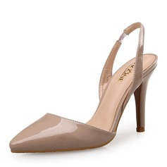 Women's Patent Leather Stiletto Heel Pumps With Split Joint shoes