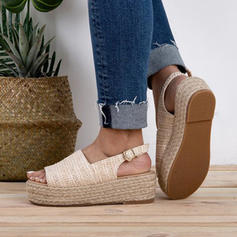 Women's Fabric Flat Heel Sandals Flats With Buckle shoes