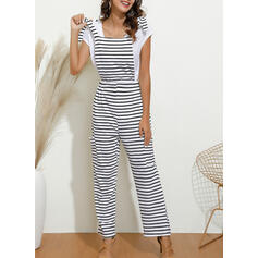 Striped Strap Sleeveless Casual Sexy Jumpsuit