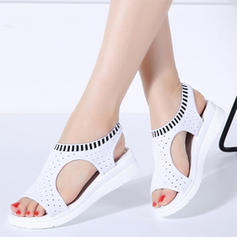 Fabric Flat Heel Sandals With Others shoes