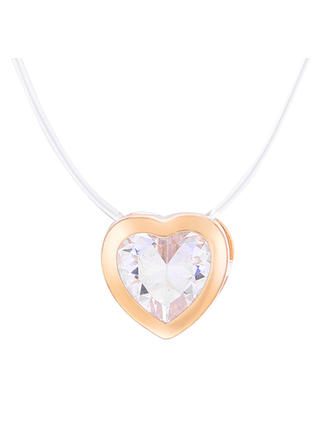 Heart Shaped Alloy Zircon With Zircon Women's Necklaces (Sold in a single piece)