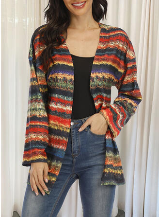 Long Sleeves Striped Jackets