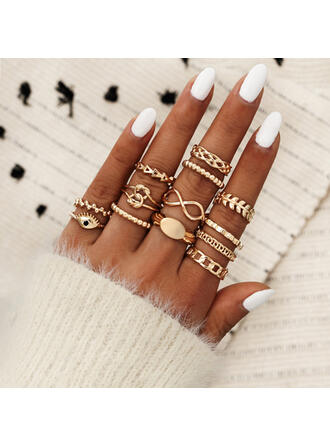 Vintage Infinity Knot Alloy With Eye Rings (set of 13)