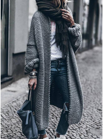 Cotton Long Sleeves Solid Wide-Waisted Coats