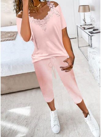 Solid Pockets Casual Sexy Drawstring Two-Piece Outfits