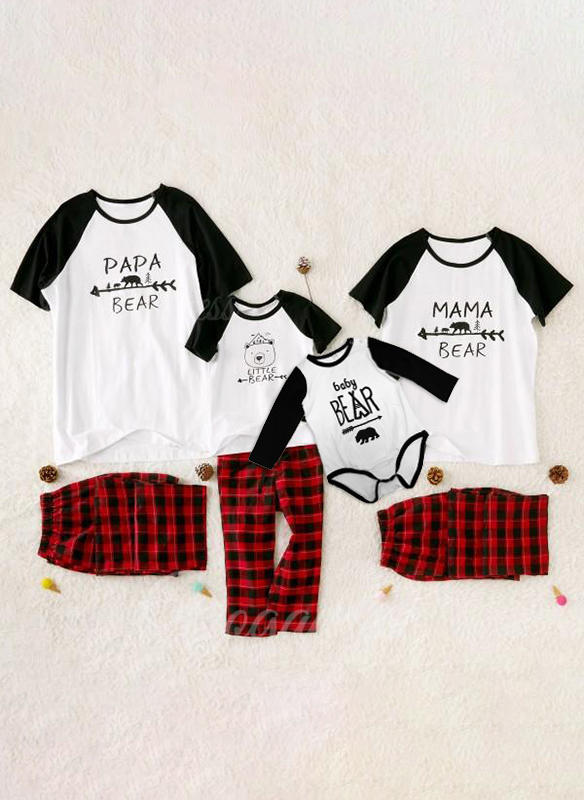 Letter Family Matching Pajamas