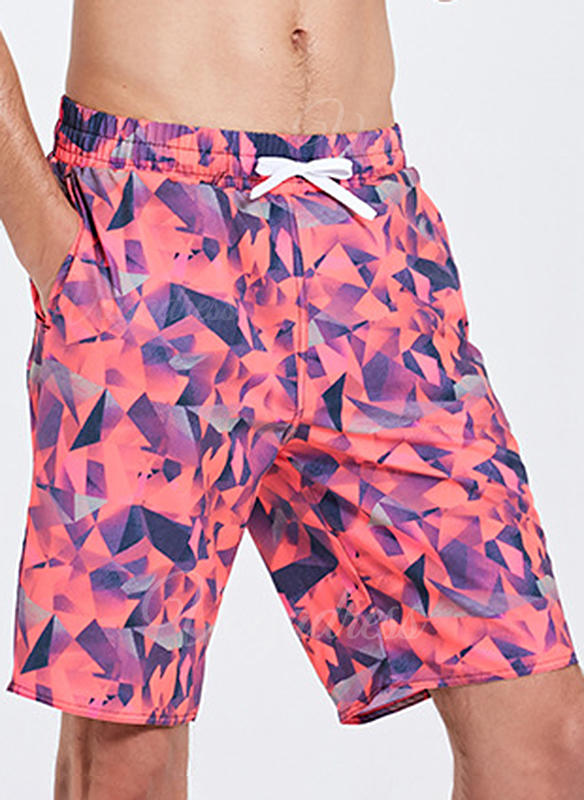 Men's Print Board Shorts Swimsuit